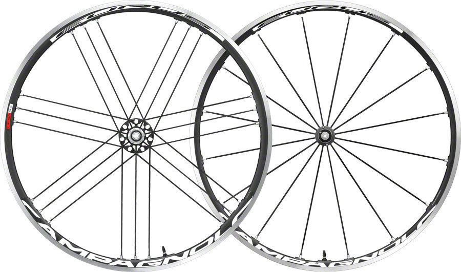 Campagnolo-Eurus-700c-Road-Wheelset-Clincher-Black
