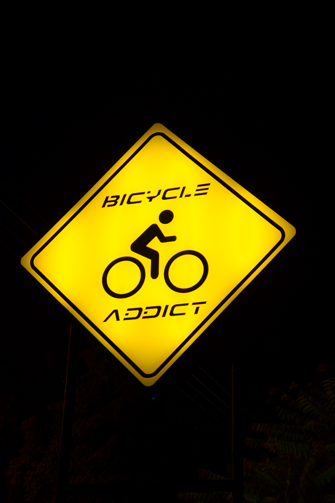 bicycle-addict sign
