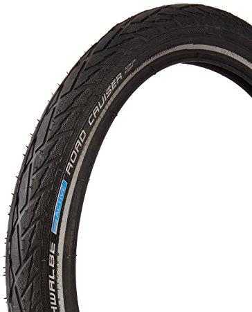 Schwalbe Bicycle Tire 16X1.75 Road Cruiser Refl. Black